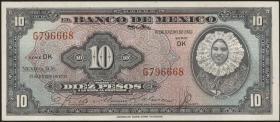 Mexiko / Mexico P.053b 10 Pesos 1953 (1)