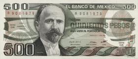 Mexiko / Mexico P.079b 500 Pesos 1984 (1)