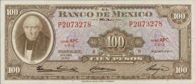Mexiko / Mexico P.061b 100 Pesos 1963 (1)