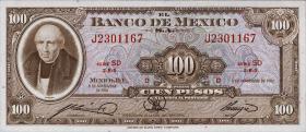 Mexiko / Mexico P.055j 100 Pesos 1961 (1)