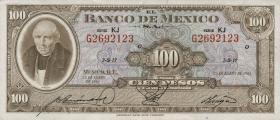 Mexiko / Mexico P.061a 100 Pesos 1961 (1)
