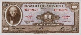 Mexiko / Mexico P.061c 100 Pesos 1967 (1)