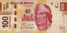 Mexiko / Mexico P.124b 100 Pesos 2009 Serie E (1)