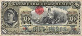 Mexiko / Mexico P.S258e 10 Pesos 1910 (3-)