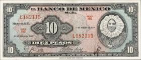 Mexiko / Mexico P.058f 10 Pesos 1959 (1)