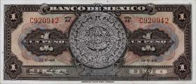Mexiko / Mexico P.046a 1 Peso 1948 (1)