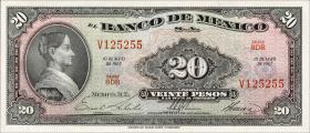 Mexiko / Mexico P.054m 20 Pesos 1967 (1)