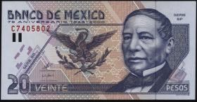 Mexiko / Mexico P.111 20 Pesos 2000 Gedenkbanknote (1)