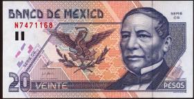 Mexiko / Mexico P.106d 20 Pesos 1999 (1)