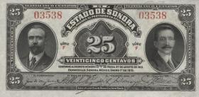 Mexiko / Mexico P. S1069  25 Centavos 1915 (1)