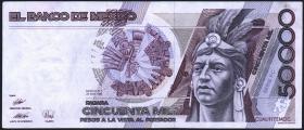 Mexiko / Mexico P.093b 50000 Pesos 1990 (2)