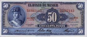 Mexiko / Mexico P.049n 50 Pesos 1961 (1)
