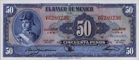 Mexiko / Mexico P.049o 50 Pesos 1963 (1)