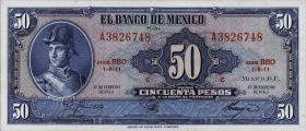 Mexiko / Mexico P.049p 50 Pesos 1965 (1)