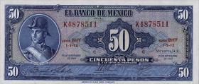 Mexiko / Mexico P.049r 50 Pesos 1969 (1)