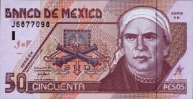Mexiko / Mexico P.117b 50 Pesos 2002 Polymer (1)