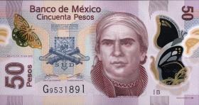 Mexiko / Mexico P.123Ab 50 Pesos 2012 Polymer (1)