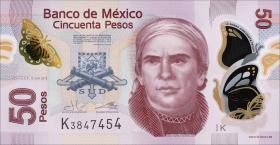 Mexiko / Mexico P.123Ad 50 Pesos 2013 Polymer (1)