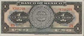 Mexiko / Mexico P.059i 1 Peso 1965 (1)