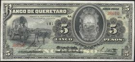 Mexiko / Mexico P.S390b 5 Pesos 1914 (2)