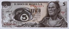 Mexiko / Mexico P.062b 5 Pesos 1971 (1)
