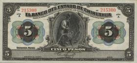 Mexiko / Mexico P. S0132a 5 Pesos 1913 (1)