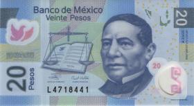 Mexiko / Mexico P.122g 20 Pesos 2009 Polymer (1)