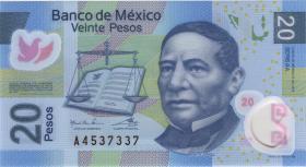 Mexiko / Mexico P.122n 20 Pesos 2016 Polymer (1)