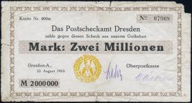 MG502.04 Postscheckamt Dresden 2 Millionen Mark 1923 (4)