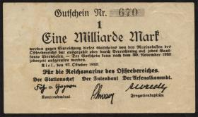 Mil-05x Reichsmarine Ostseebereich 1 Milliarde Mark 1923 (3+)