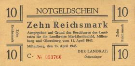 Miltenberg Notgeld 10 Reichsmark 1945 (1)