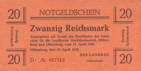 Miltenberg Notgeld 20 Reichsmark 1945 (1)