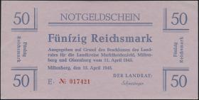 Miltenberg Notgeld 50 Reichsmark 1945 (1-)
