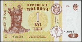Moldawien / Moldova P.08c 1 Leu 1998 (1)