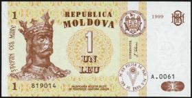 Moldawien / Moldova P.08d 1 Leu 1999 (1)
