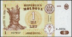 Moldawien / Moldova P.08e 1 Leu 2002 (1)