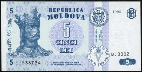 Moldawien / Moldova P.09b 5 Lei 1995 (1)