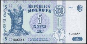 Moldawien / Moldova P.09d 5 Lei 2005 (1)
