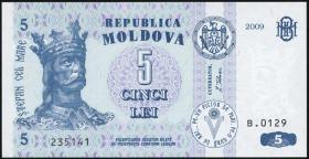 Moldawien / Moldova P.09f 5 Lei 2009 (1)
