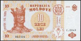 Moldawien / Moldova P.10d 10 Lei 2005 (1)