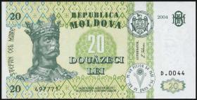 Moldawien / Moldova P.13f 20 Lei 2004 (1)