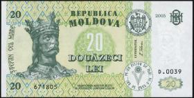 Moldawien / Moldova P.13g 20 Lei 2005 (1)