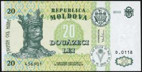Moldawien / Moldova P.13i 20 Lei 2010 (1)