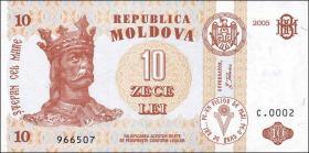 Moldawien / Moldova P.10e 10 Lei 2006 (1)