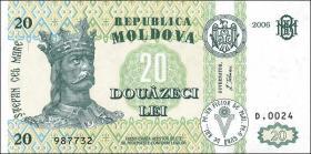 Moldawien / Moldova P.13h 20 Lei 2006 (1)