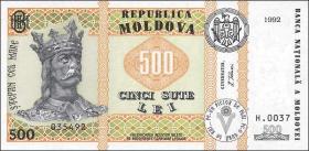 Moldawien / Moldova P.17 500 Lei 1992 (1999) (1)