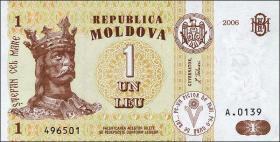 Moldawien / Moldova P.08g 1 Leu 2006 (1)