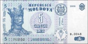 Moldawien / Moldova P.09e 5 Lei 2006 (1)
