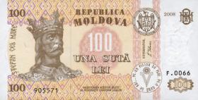 Moldawien / Moldova P.15b 100 Lei 2008 (1)
