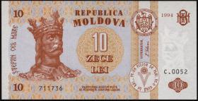 Moldawien / Moldova P.10a 10 Lei 1994 (1)